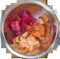 Grubby's Poke & Fish Market Protein Poke Bowl options